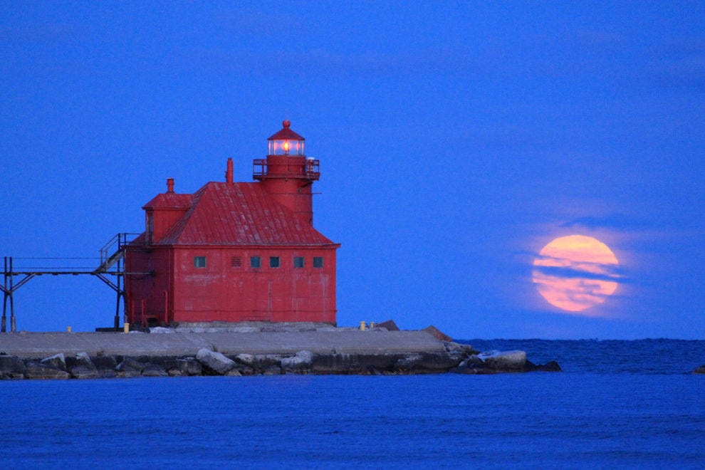 The expansive Door County boasts several historic lighthouses