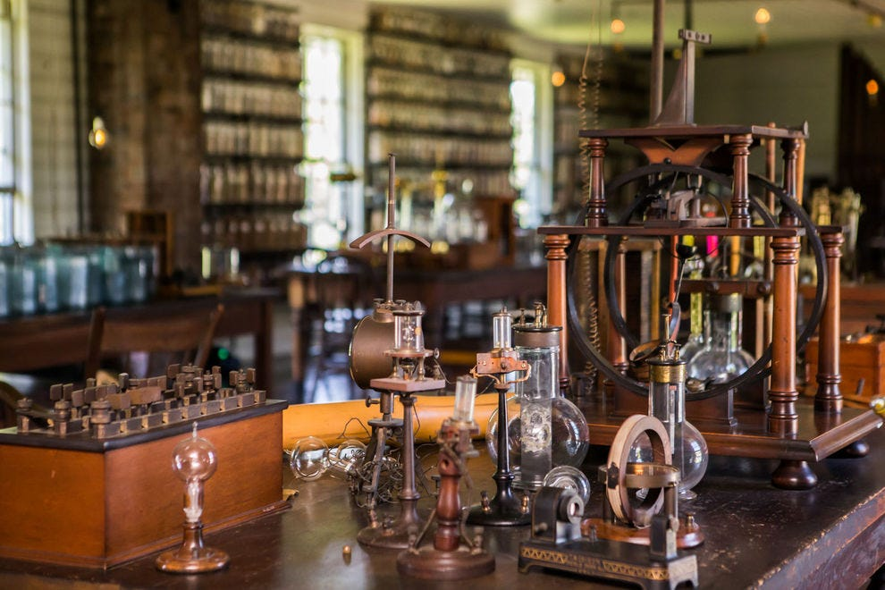 A look inside the recreation of Thomas Edison's lab