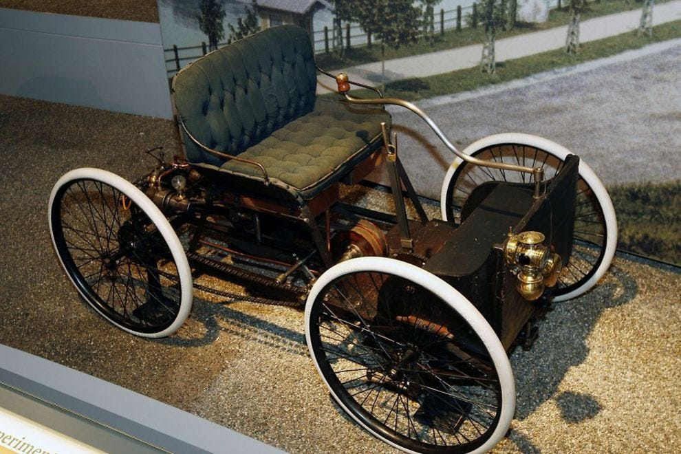 An 1896 Quadricycle The First Car Henry Ford Made Photo Courtesy Of Gary Malerbra Via Museum American Innovation