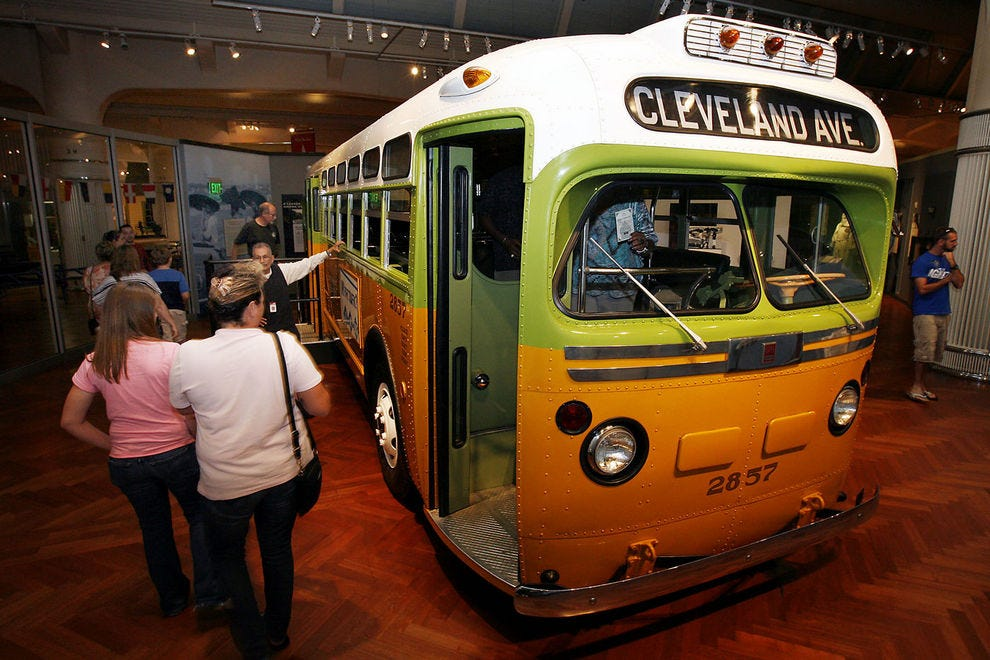 Bus number 2857 was made famous by Rosa Parks' refusal to move to the back