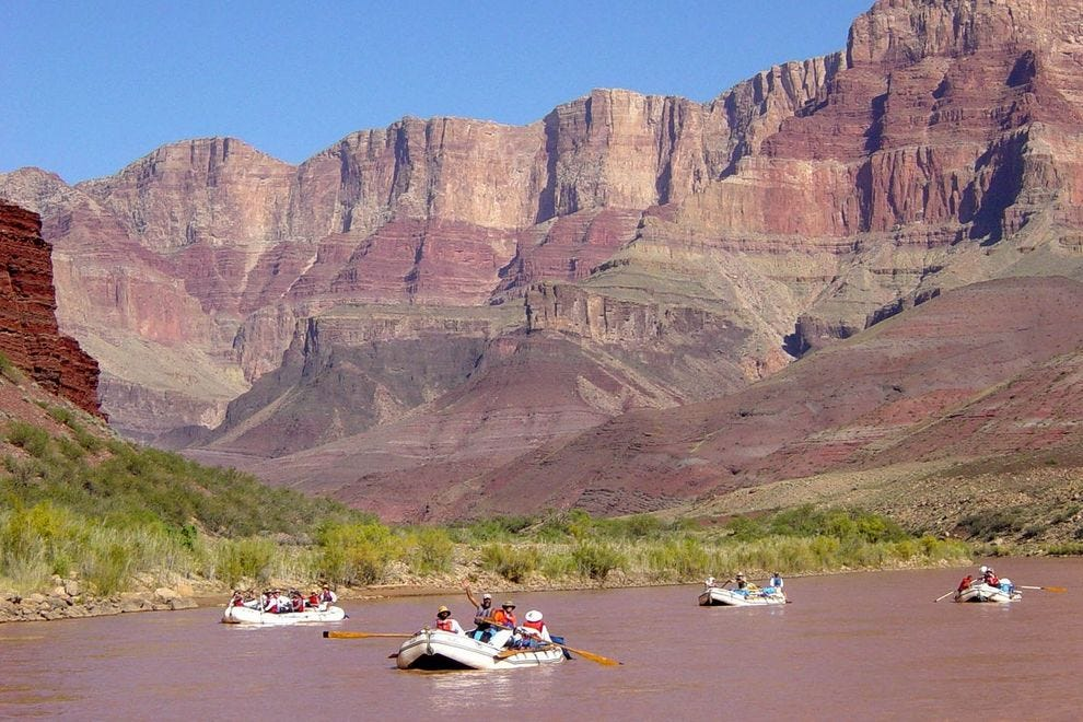 Rafters on the Colorado River
