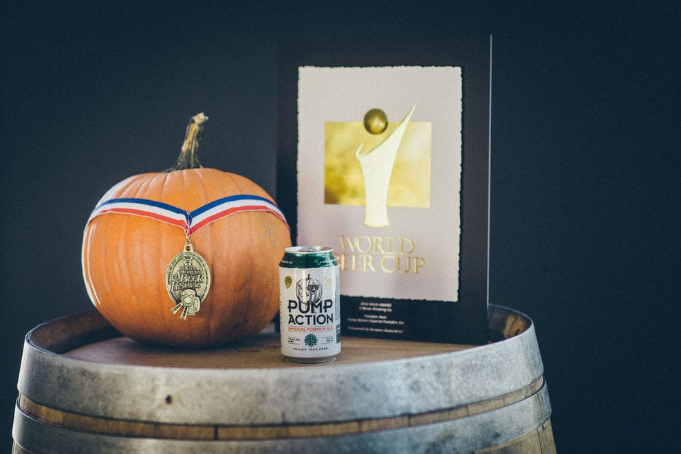 This fall favorite is brewed with real pumpkin puree