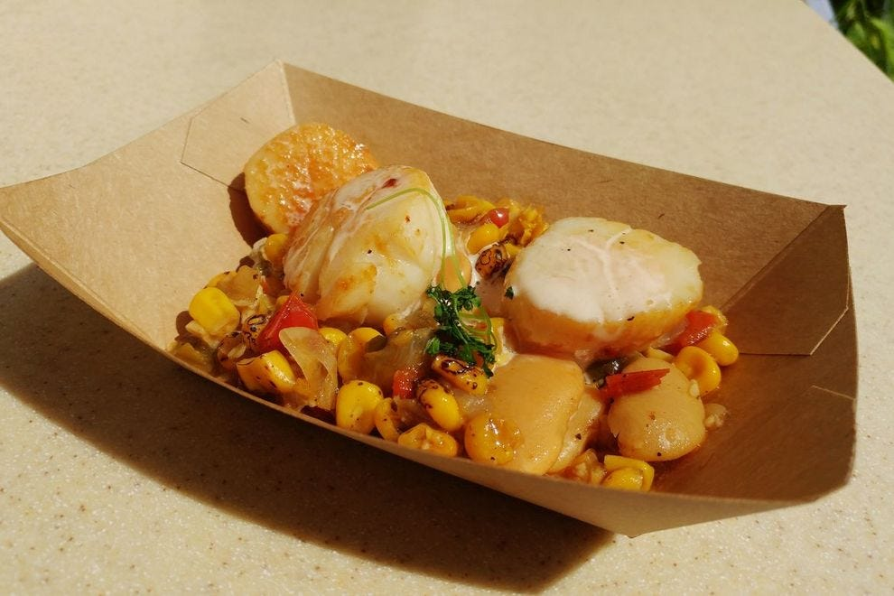 Seared scallop from Coastal Eats