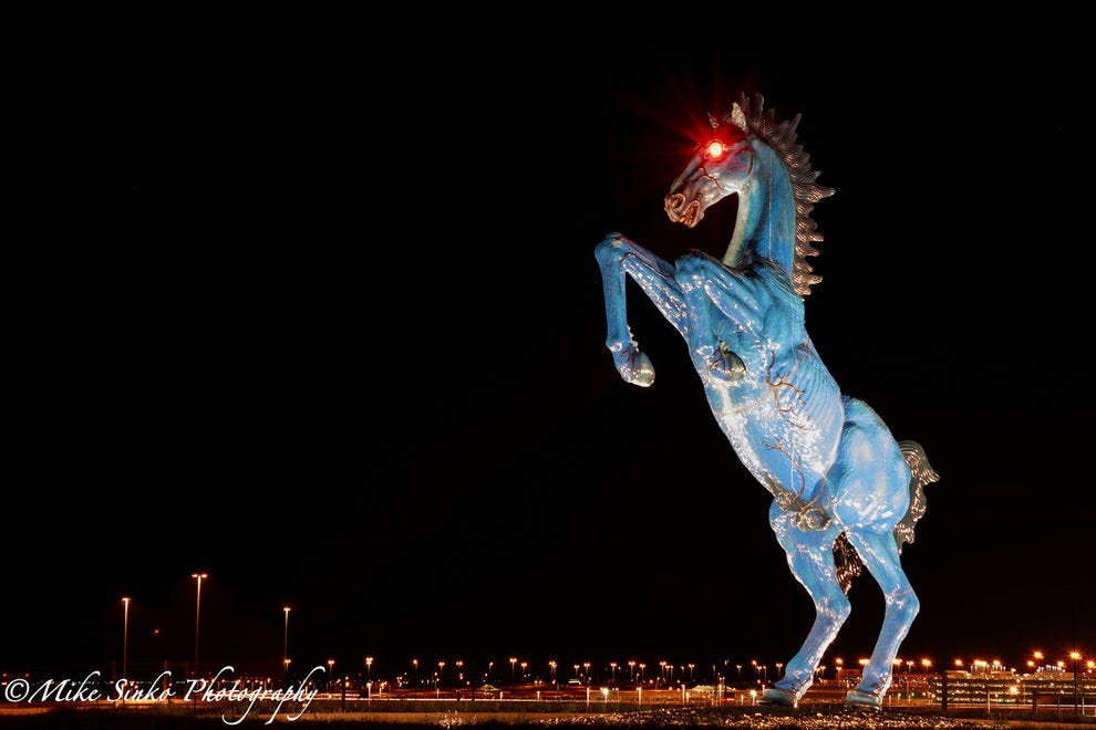 Blue Mustang sculpture at Denver International Airport