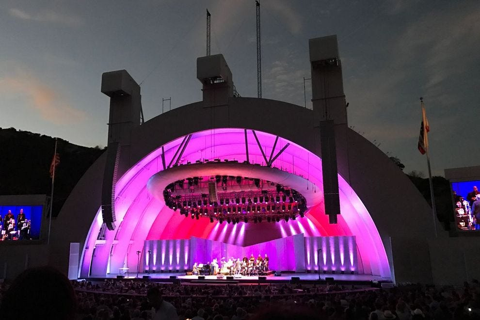 Hollywood Bowl illuminated