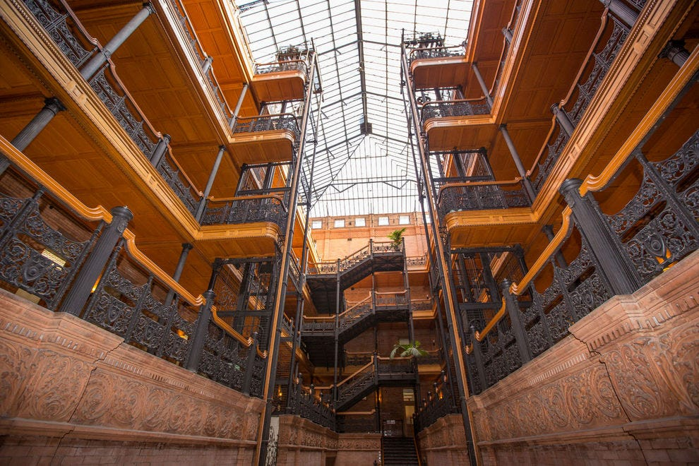 Bradbury Building's beautiful iron work