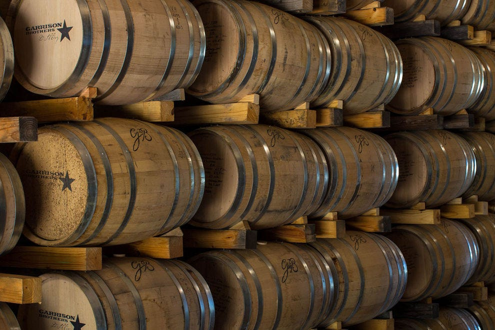 Bourbon must be aged in new American oak