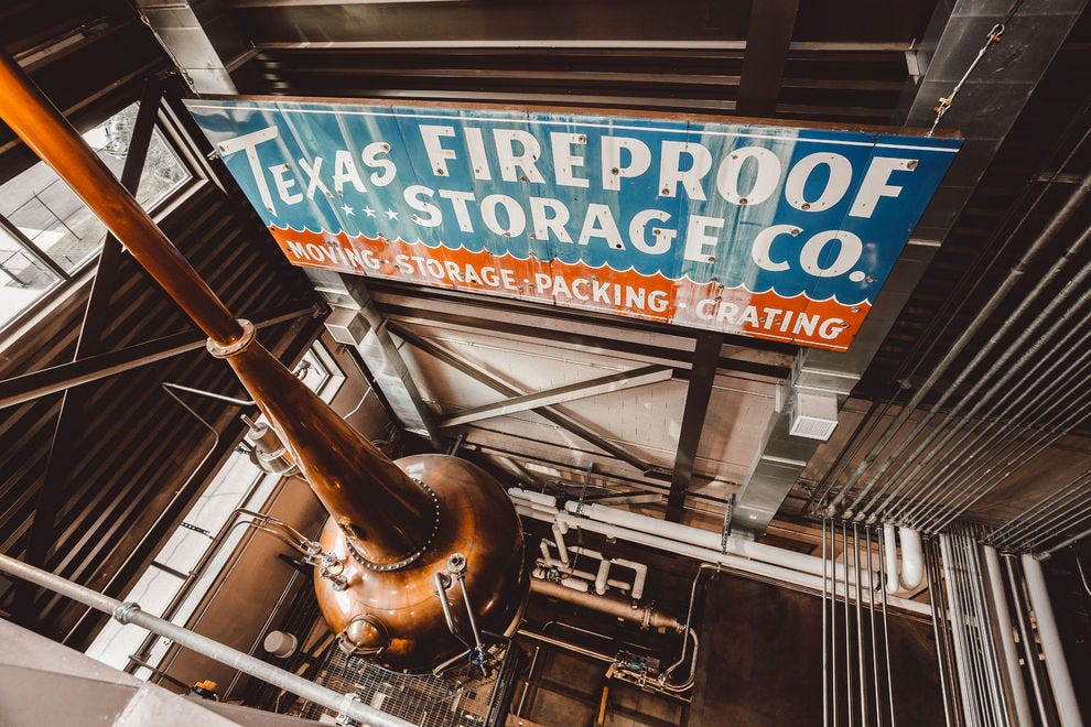 Copper pot still at Balcones Distilling