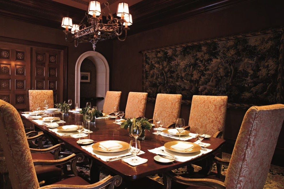 Private dining room at Addison at Fairmont Grand Del Mar