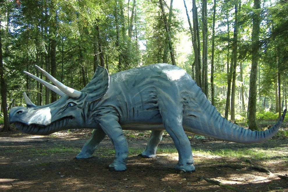 This Triceratops replica can be found at Dinosaur Gardens