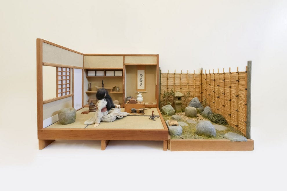 Works of art like this tiny Japanese tea room are on display at the Midwest Miniatures Museum