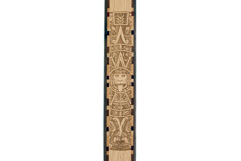 Ancient Aztec Calendar Wood Bookmark