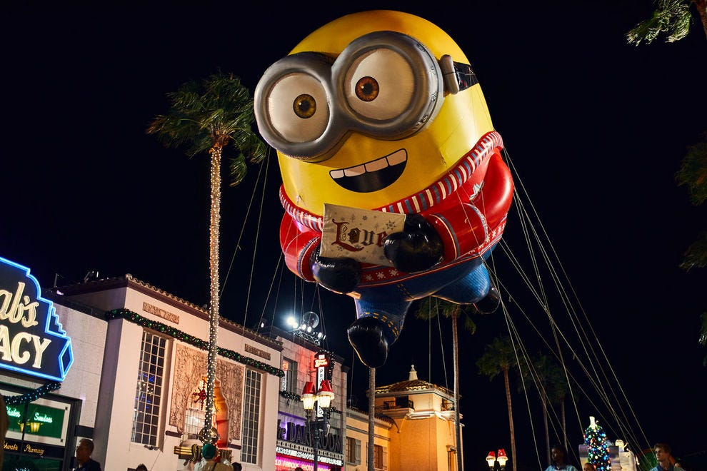 BANANA! Bob the Minion is one of the parade's cutest balloons, and that's really saying something