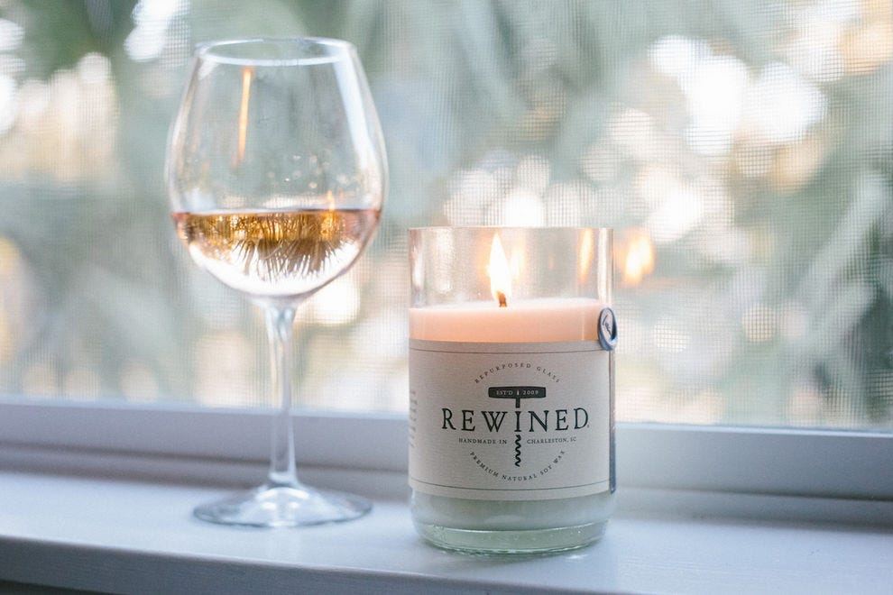 Wine-scented candle from Rewined