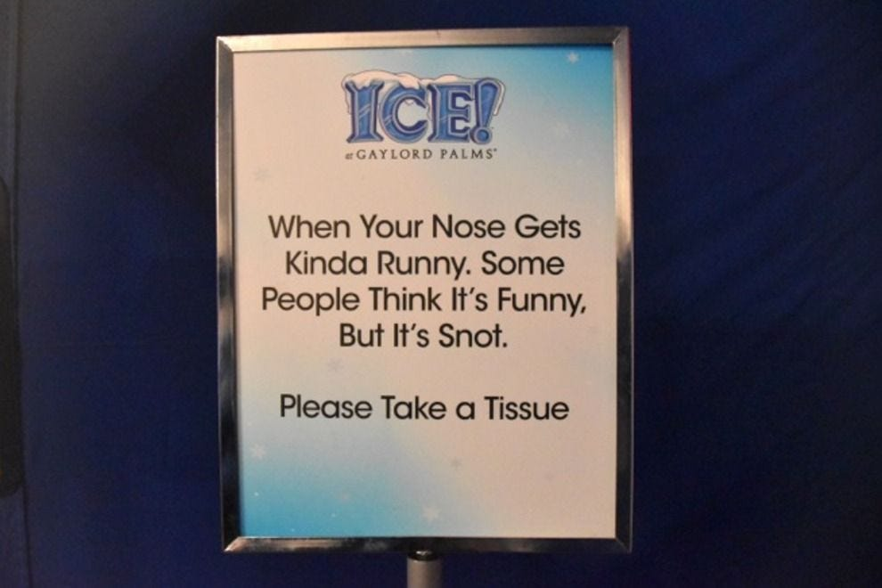 An amusing – and helpful – sign that guests see upon exit