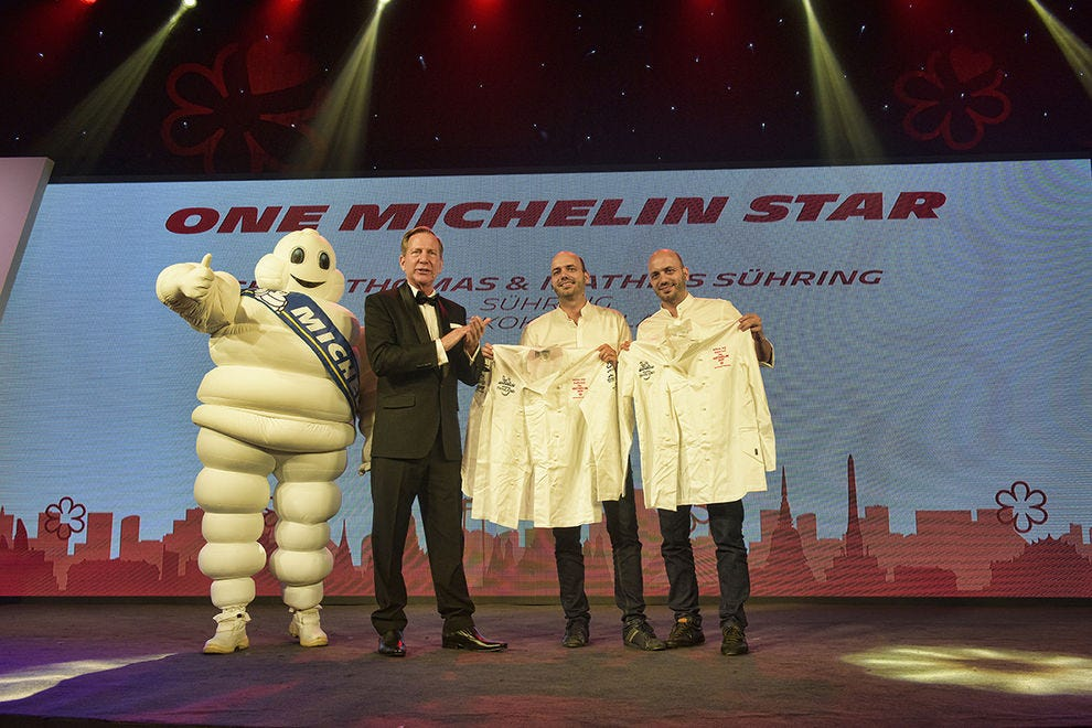 The Suhring brothers receive their Michelin jackets