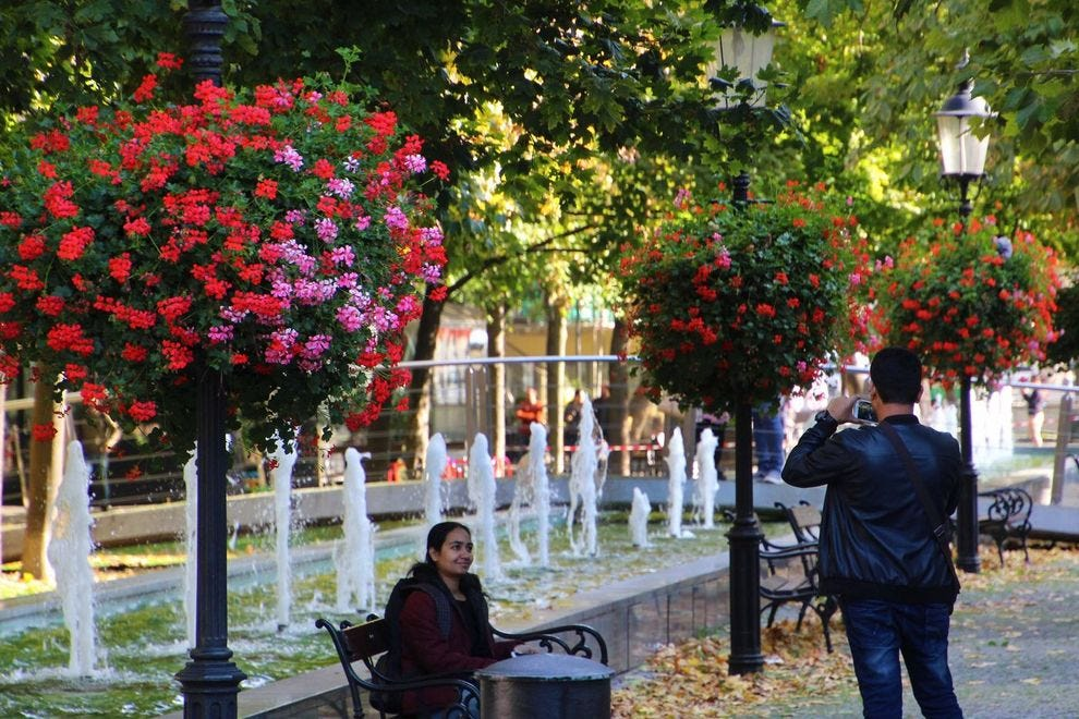 Relax in the many gardens of Bratislava's Old Town