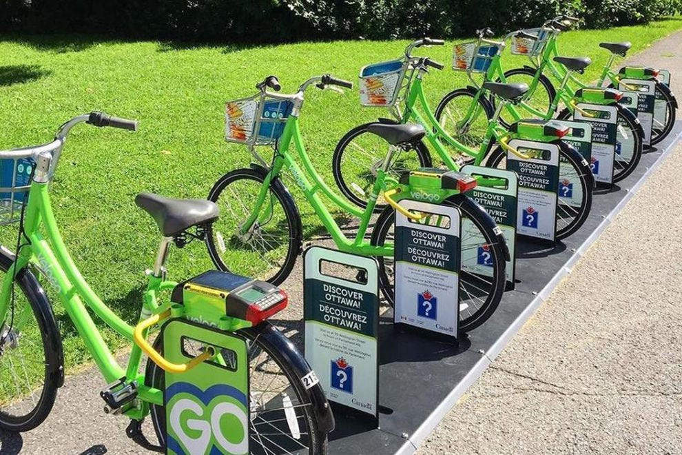 VeloGO Bike Share is offered in Ottawa and in Gatineau