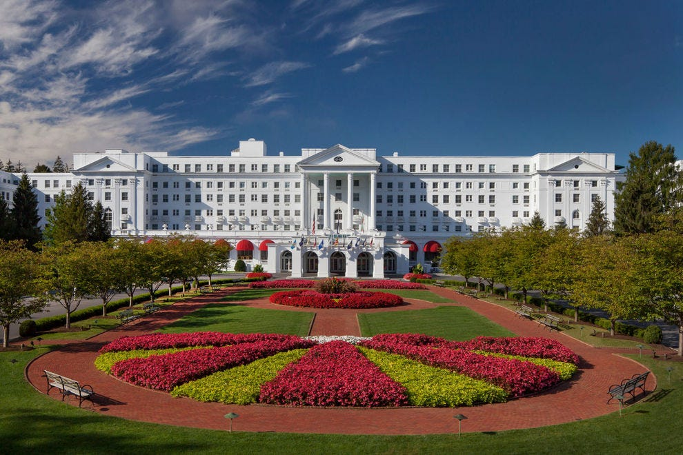 The historic Greenbrier has been attracting visitors since 1778