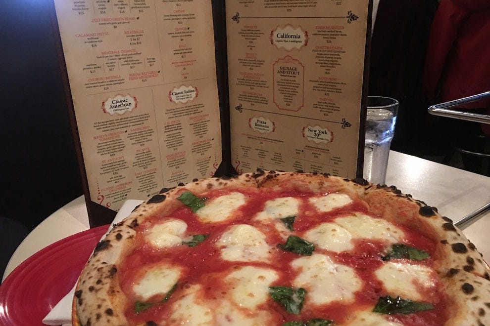 The award-winning Margherita pizza at Tony's Pizza Napoletana