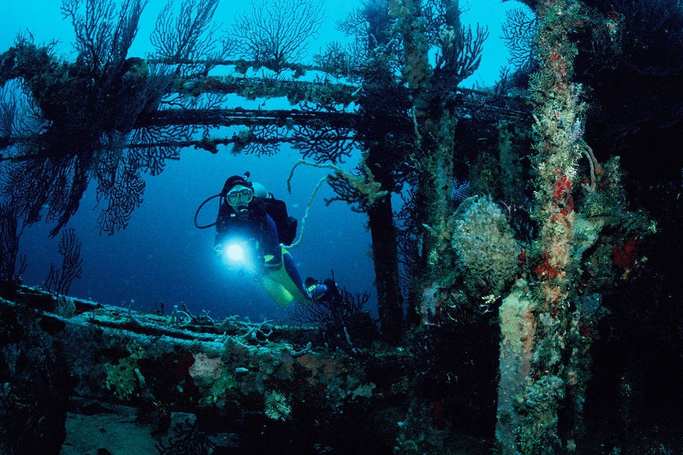 Divers come from around the world to explore the wreck of the Bianca C