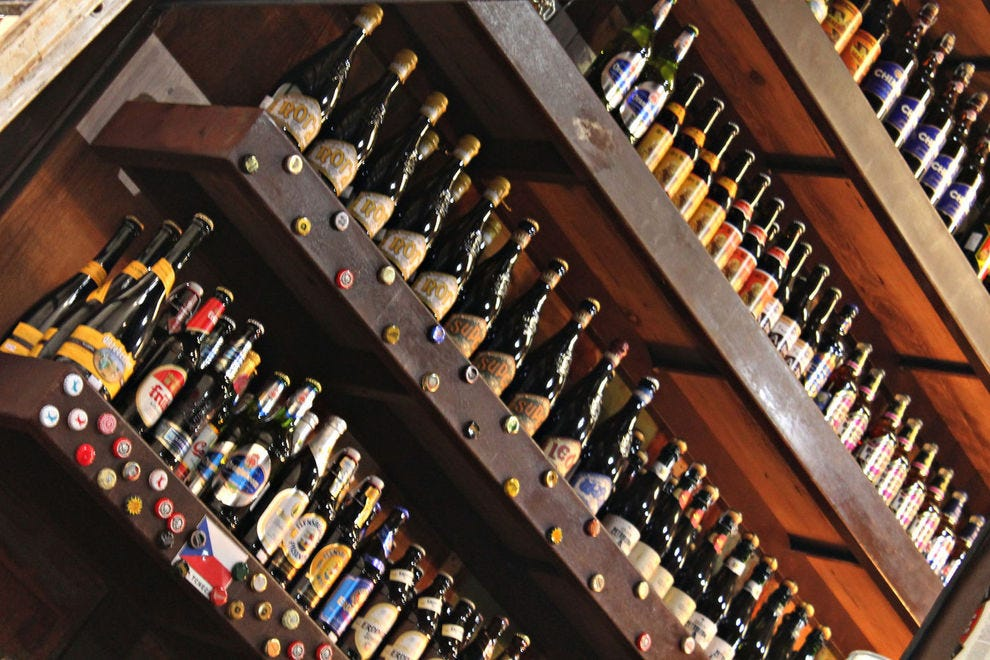 Many beer bars have hundreds of beers on their menus