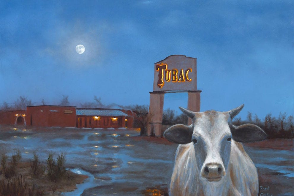 """No Bull"" by Tubac artist Fred Collins at Cobalt Fine Arts Gallery"