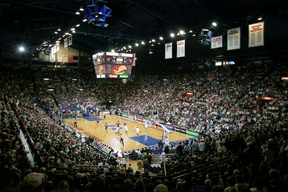 Allen Fieldhouse ranks among the loudest stadiums in NCAA basketball