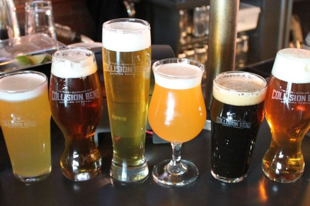 Collision Bend in Cleveland brews a dozen of their own beers