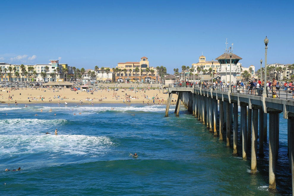 Huntington Beach is one of the world's top surfing spots