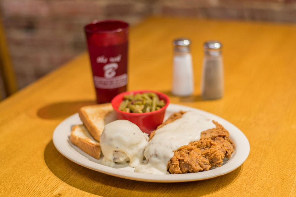 Chicken fried steak from The Red B in Idabel