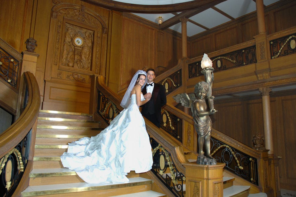 Get married on the Titanic's Grand Staircase at Luxor and your heart will go on...