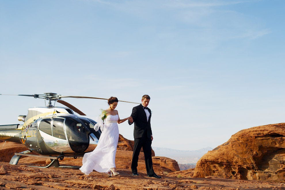 Celebrate the journey and the destination with a Sundance Helicopters Grand Canyon wedding
