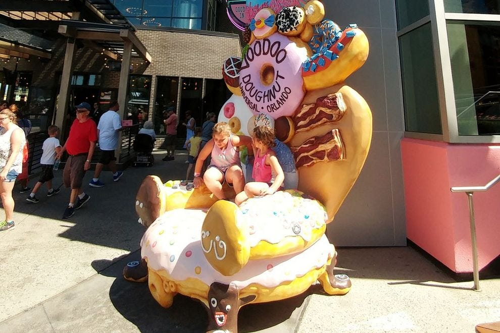 The doughnut throne is but one of a zillion post-worthy photo ops