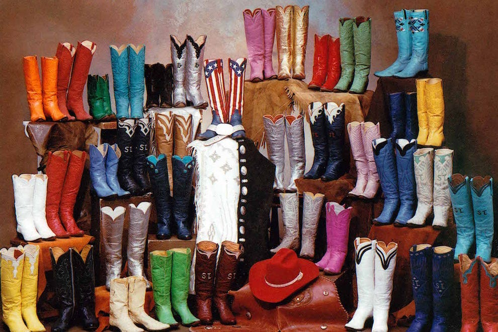 Fern Sawyer's collection of handmade boots