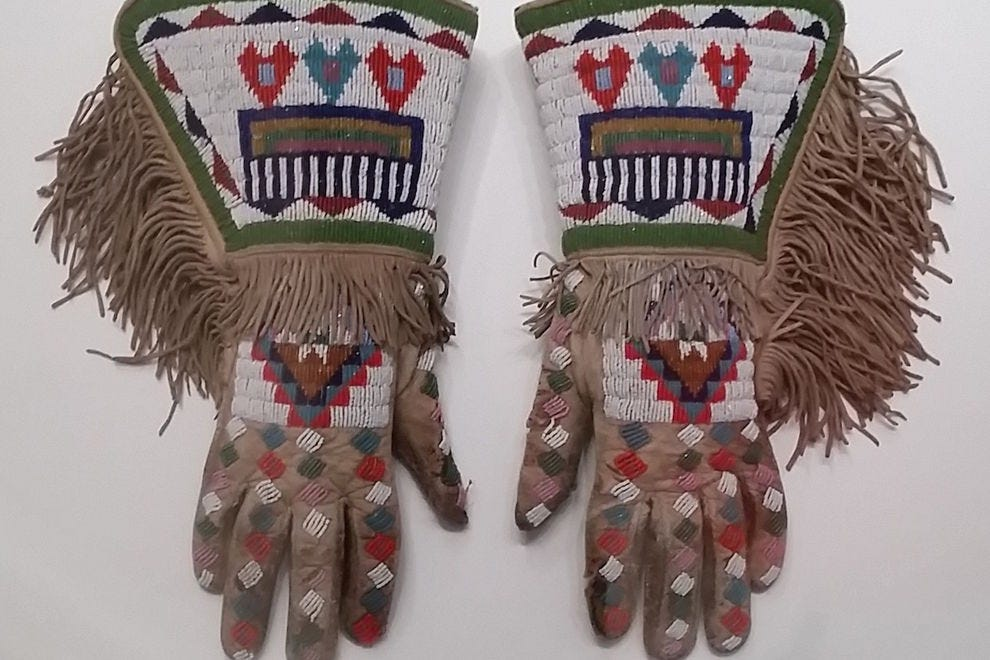 Beaded Sioux gauntlets