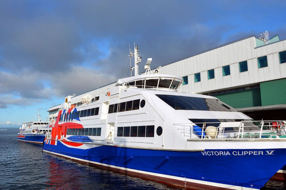 Enjoy a Victoria Clipper high-speed, passenger-only ferry to get to Victoria in less than three hours