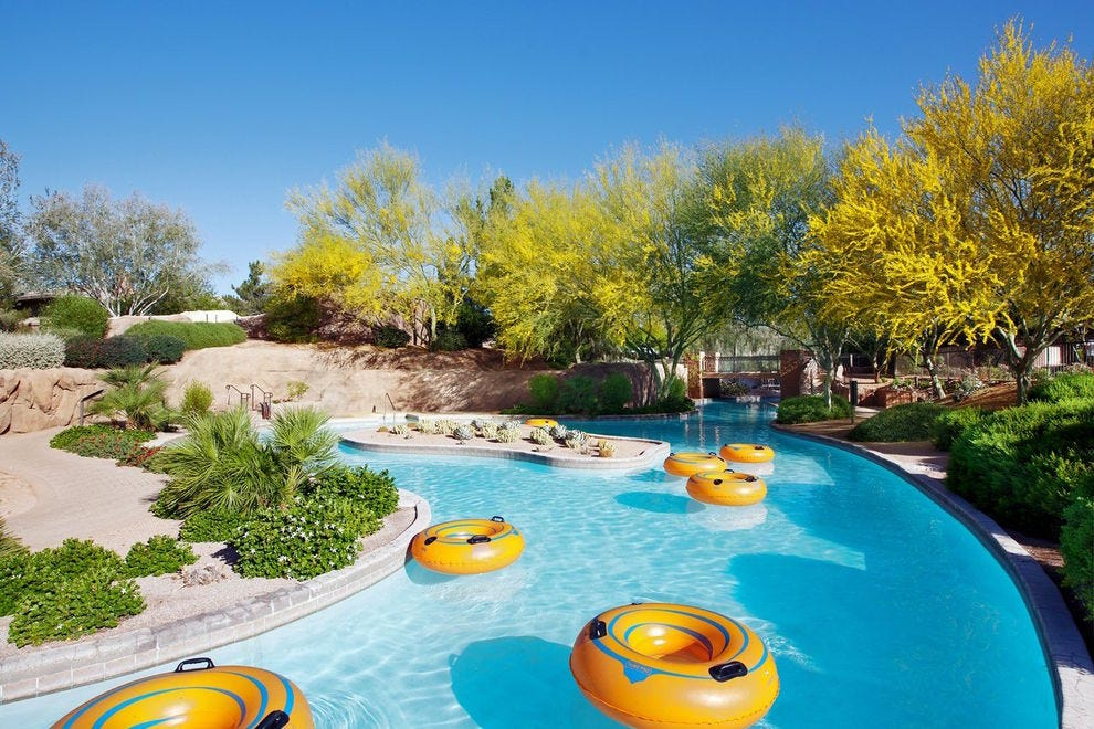 The lazy river at The Westin Kierland Resort & Spa is a great place to spend a lazy summer day