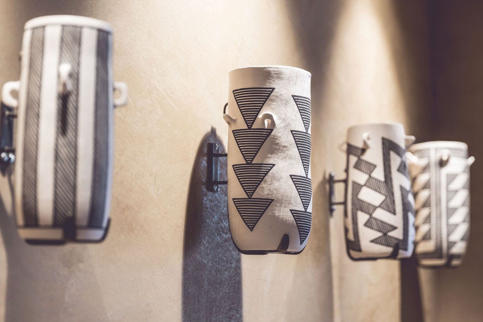 Vallos' Chaco cylinders can be found on your way into Equinox