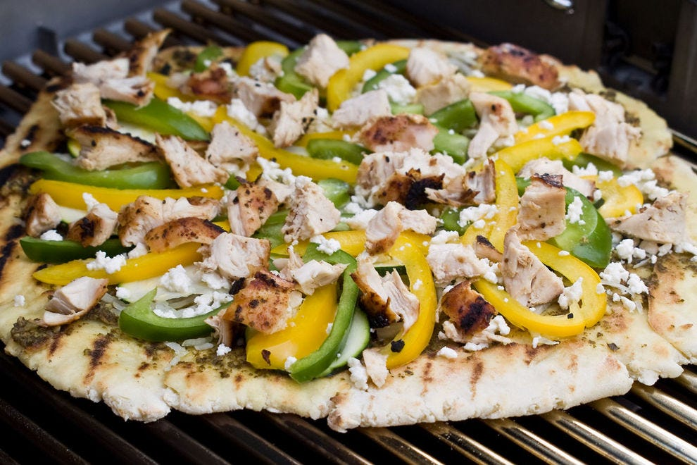 Day 71:  Try grilling your pizza