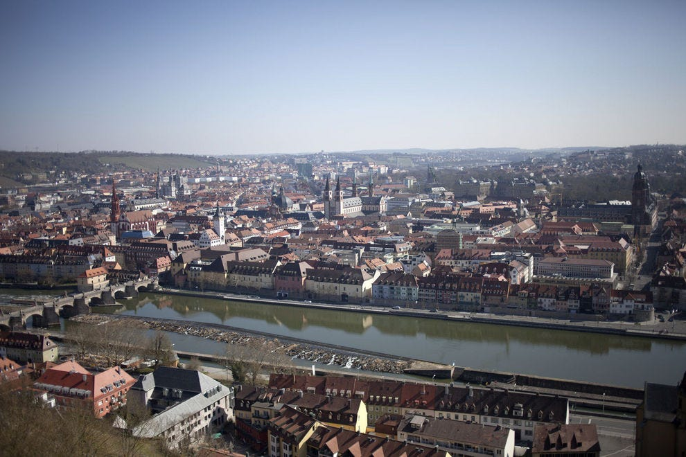View of Würzburg from Marienberg Fortress