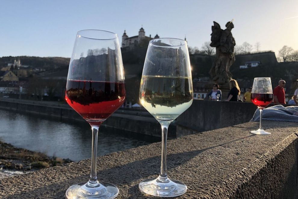Give a toast to the stunning views on Würzburg's Alte Mainbrücke