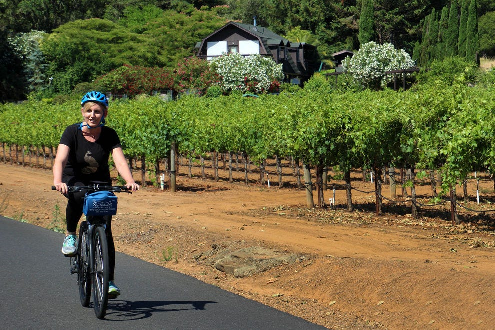 Pedal past the vines