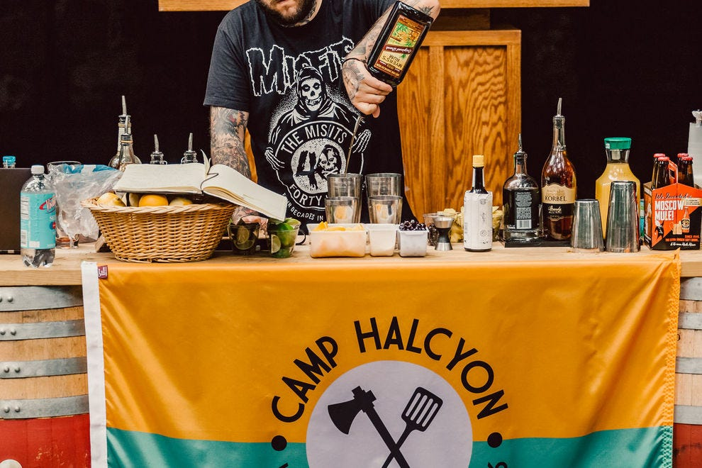 Get your drink on at Camp Halcyon