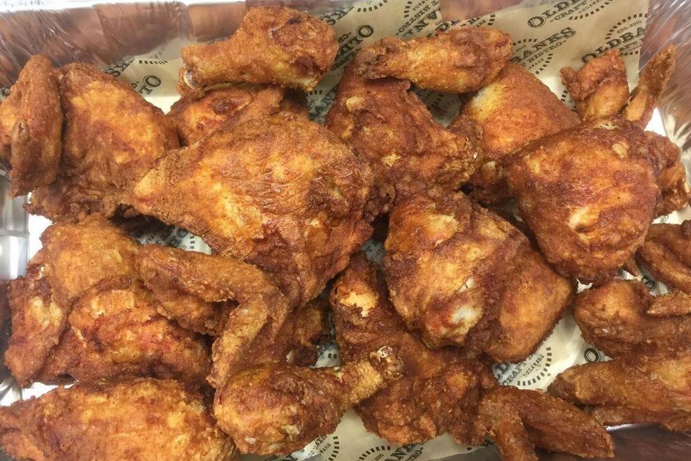 Fried chicken from Oldbanks Craft Bistro