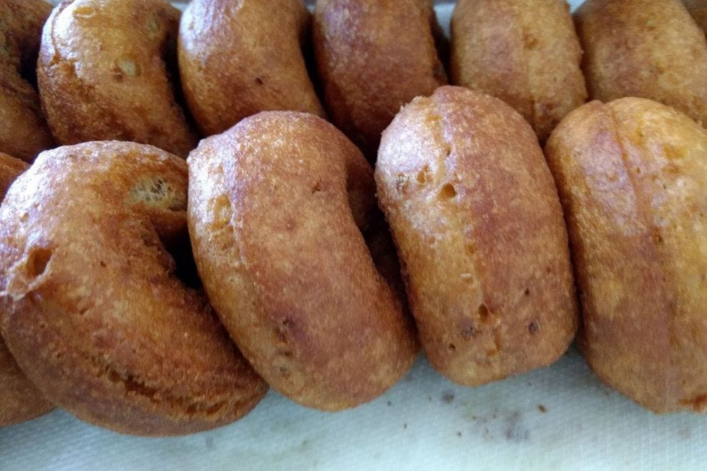Cider donuts from Meadow Ledge Farm
