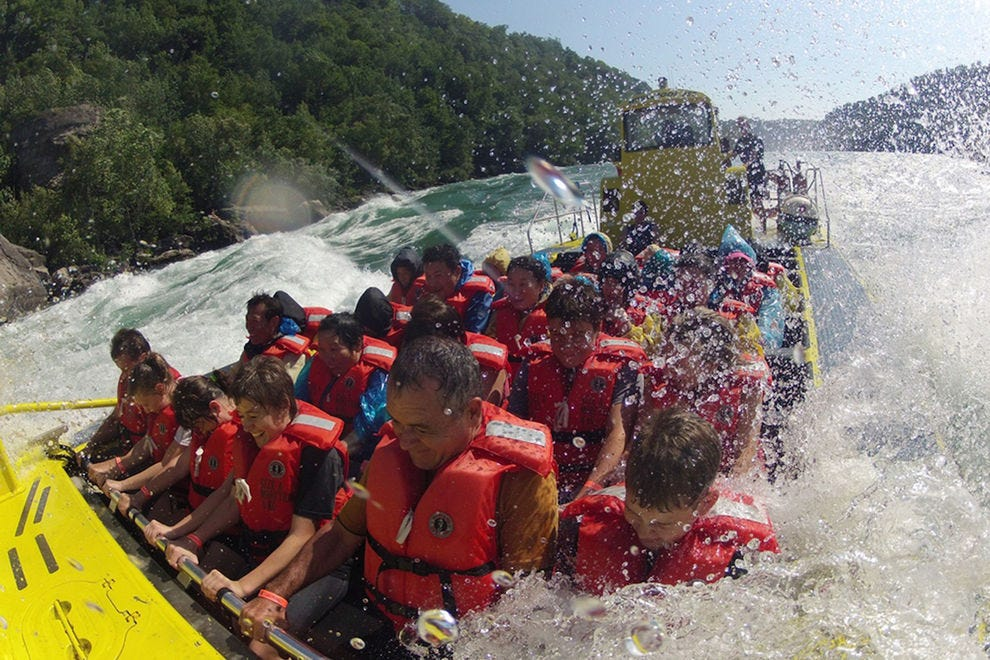 Experience Niagara River's class V rapids in a jet boat