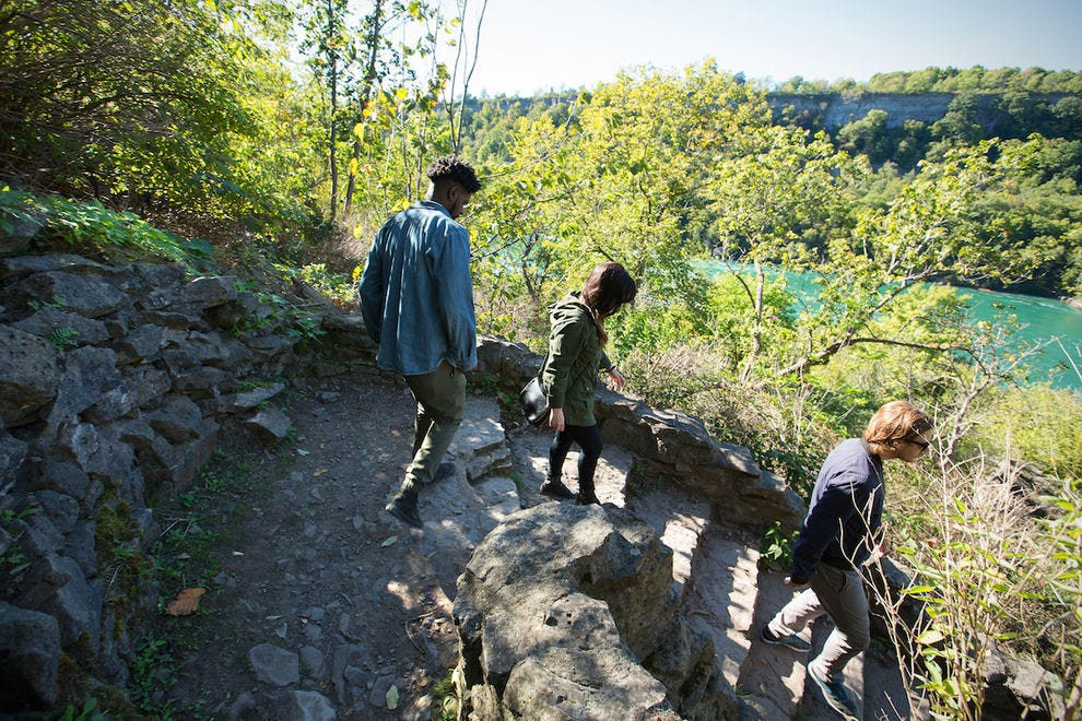 The Niagara Gorge Trail System is a great way to experience the area's beautiful scenery