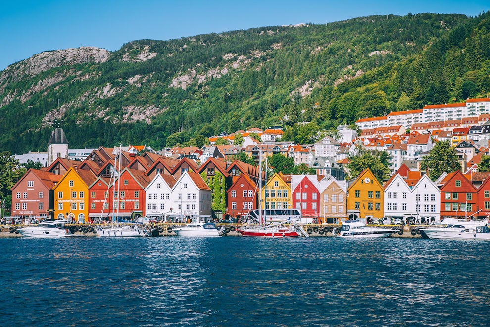 The wooden houses of Bergen are an iconic sight