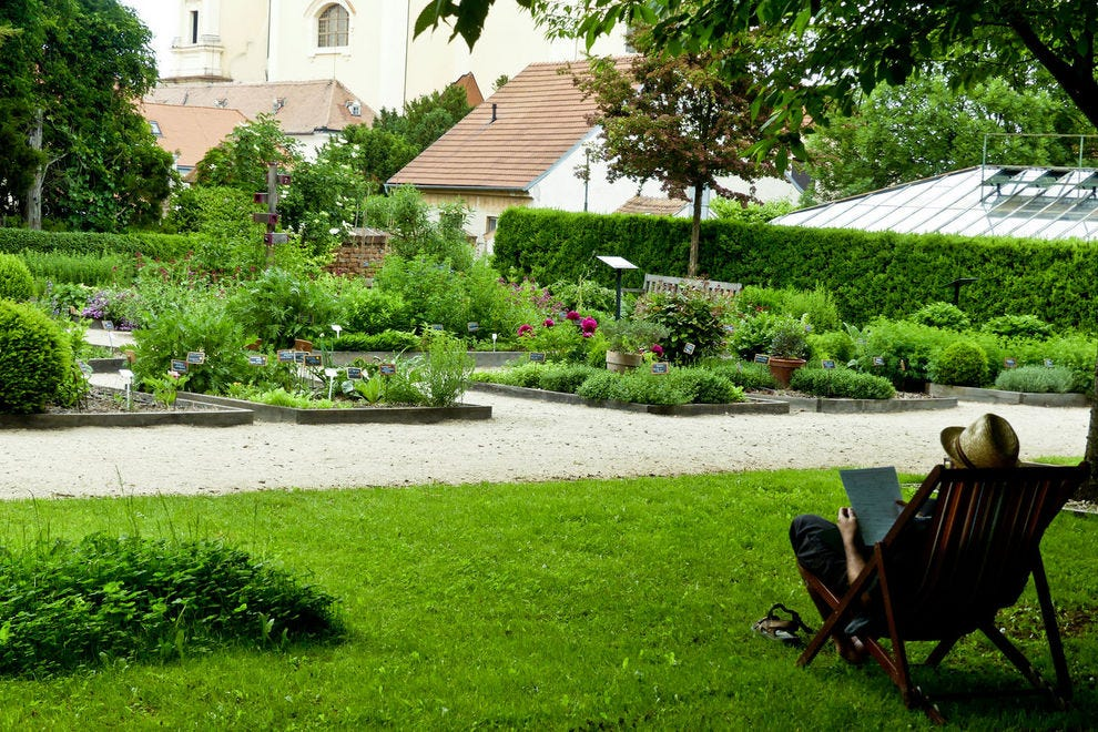 The herb garden is one of the most beautiful spots at Chateau Valtice so be sure to wander back there.